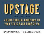 original display font with... | Shutterstock .eps vector #1168872436