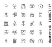 collection of 25 eco outline... | Shutterstock .eps vector #1168878469