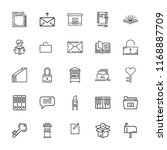 collection of 25 open outline... | Shutterstock .eps vector #1168887709