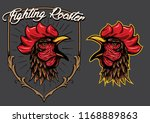 the rooster head and applied as ... | Shutterstock .eps vector #1168889863
