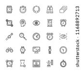 collection of 25 watch outline... | Shutterstock .eps vector #1168892713
