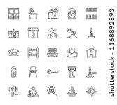 collection of 25 house outline... | Shutterstock .eps vector #1168892893