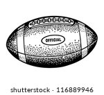 football   retro clipart... | Shutterstock .eps vector #116889946