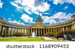 beautiful kazan cathedral in st.... | Shutterstock . vector #1168909453