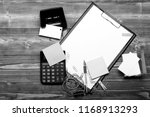 clip folder with white paper... | Shutterstock . vector #1168913293