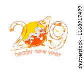 happy new 2019 year with flag... | Shutterstock .eps vector #1168917499