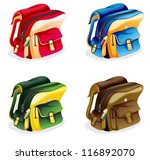 illustration of school bags on... | Shutterstock .eps vector #116892070