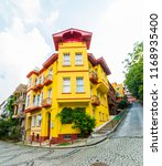 historical colorful houses in... | Shutterstock . vector #1168935400