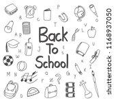 back to school doodle  clipart  ...   Shutterstock .eps vector #1168937050