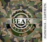 beak written on a camouflage...   Shutterstock .eps vector #1168938196