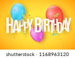 colorful festive balloons on a... | Shutterstock .eps vector #1168963120