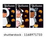 set of halloween cards | Shutterstock .eps vector #1168971733