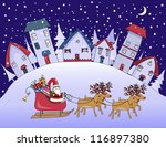 silent night   christmas in a... | Shutterstock .eps vector #116897380