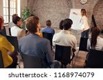 business conference student... | Shutterstock . vector #1168974079