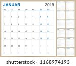 german planning calendar 2019 ... | Shutterstock .eps vector #1168974193