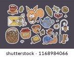 big autumn icon set. cozy fall... | Shutterstock .eps vector #1168984066