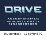 drive display font design ... | Shutterstock .eps vector #1168984570