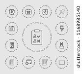 reminder icon. collection of 13 ... | Shutterstock .eps vector #1168985140