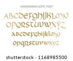 blackletter gothic uncial hand... | Shutterstock .eps vector #1168985500