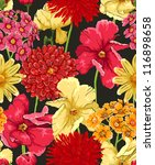 floral seamless wallpaper in... | Shutterstock .eps vector #116898658