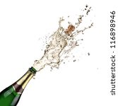 close up of champagne explosion | Shutterstock . vector #116898946