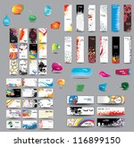 mix collection vertical and... | Shutterstock .eps vector #116899150