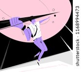 businessman running with a... | Shutterstock .eps vector #1168994473