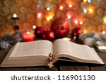 Christmas And Bible With...