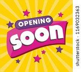 opening soon vector announcement | Shutterstock .eps vector #1169032363
