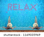 beautiful young woman in spa in ... | Shutterstock . vector #1169035969