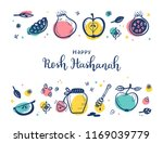 jewish new year holiday. happy... | Shutterstock .eps vector #1169039779