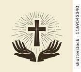 christianity symbol of jesus... | Shutterstock .eps vector #1169043340