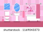 interior of the bathroom for a... | Shutterstock .eps vector #1169043373
