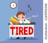 fatigue businessman at work ... | Shutterstock .eps vector #1169053240