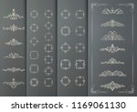 a set of vintage frames and... | Shutterstock .eps vector #1169061130