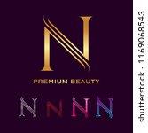 premium letter n monogram... | Shutterstock .eps vector #1169068543