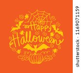 happy halloween greeting card | Shutterstock .eps vector #1169071159