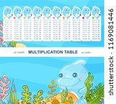 vector multiplication table in... | Shutterstock .eps vector #1169081446