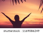 copy space of silhouette woman... | Shutterstock . vector #1169086249