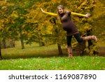 beautiful pregnant woman... | Shutterstock . vector #1169087890
