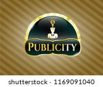 gold emblem or badge with... | Shutterstock .eps vector #1169091040