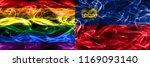 gay vs liechtenstein smoke... | Shutterstock . vector #1169093140
