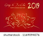 2019 happy chinese new year ... | Shutterstock .eps vector #1169094076