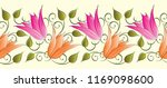 seamless tulip floral border | Shutterstock .eps vector #1169098600
