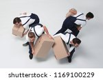 responsible movers  in a hurry...   Shutterstock . vector #1169100229