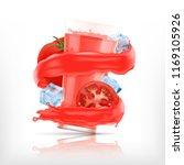 splash of tomato juice with...   Shutterstock .eps vector #1169105926