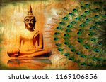 goutham budha wallpaper wall... | Shutterstock . vector #1169106856