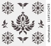 set of abstract foliate signs.... | Shutterstock .eps vector #1169114293