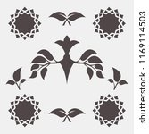 set of abstract foliate signs.... | Shutterstock .eps vector #1169114503