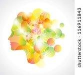 abstract girl graphics | Shutterstock .eps vector #116911843